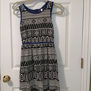Tribal Patterned Xhilaration Dress with Zipper